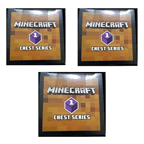 Minecraft Unlimited Mini Figure Chest Series 1 Purple Wave (3 Blind Boxes)