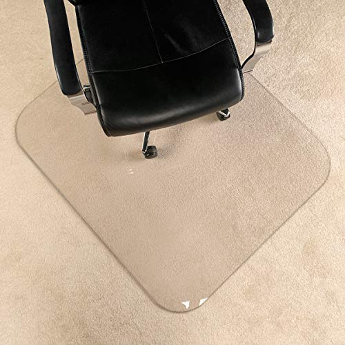 [UpgradedVersion] Crystal Clear 1/5' Thick 47' x 40' Heavy Duty Hard Chair Mat, Can be Used on Carpet or Hard Floor