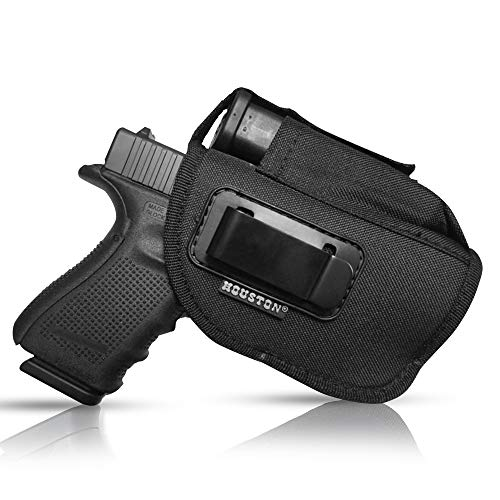IWB Tactical Gun Holster with Mag Pouch | Fits: M&P Shield, Ruger, Springfield, Sig, S&W MP Compact, Taurus PT111, H&K Compact with Small Laser
