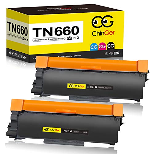 CHINGER Compatible Toner Cartridge Replacement for Brother TN660 TN-660 TN630 for HL-L2300D HL-L2320D HL-L2380DW HL-L2340DW MFC-L2700DW MFC-L2707DW DCP-L2540DW MFC-L2740DW (Black, 2-Pack, High Yield)
