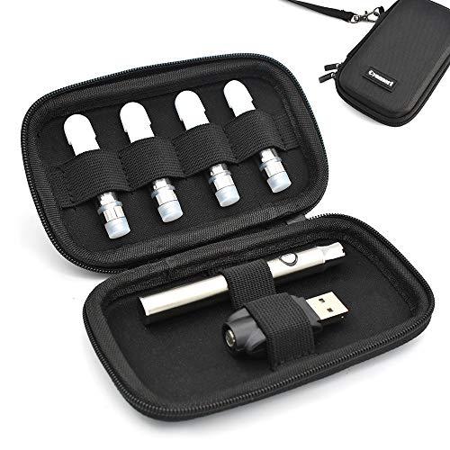 Cyameri Vape Case for Vape Pen Cartridges Hard Shell Slim Holder Organizer Travel Carrying Pouch Cover Bag for Vape Pen 510 Battery Charger Pods [Case Only]
