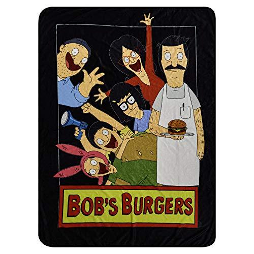 Bob's Burgers Fleece Throw Blanket - Bob, Tina & Louise Belcher Throw Blanket(Family Photo)