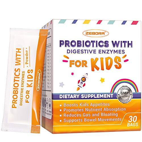 Kids-Probiotics & Prebiotics-Powder Fiber Supplement Support Immune Boosting & Digestive Health -for Age 1+, Non-GM0, Gluten & Soy Free
