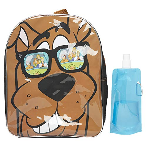 Scooby Doo Backpack Combo Set - Scooby Doo Boys 3 Piece Backpack Set - Backpack, Water Bottle and Carabina (Scooby)