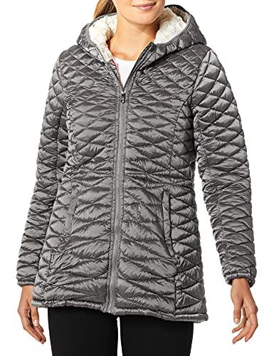 Steve Madden Women's Glacier Shield Parka Jacket, Special Titanium, L