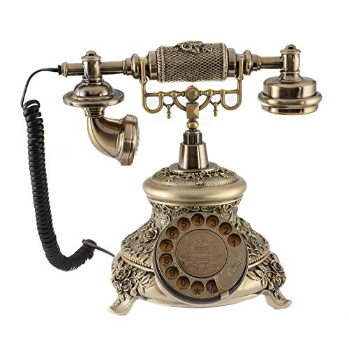 Dyna-Living Vintage Phone Antique Rotary Dial Telephone Retro Landline Telephones Decor Old Fashioned Antique Phone for Home Hotel Office Decoration