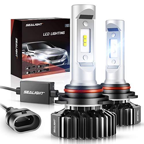 SEALIGHT 9006/HB4 LED Bulbs 14000LM 6000K Xenon White, 400% Brightness LED Fog Light Non-polarity, Pack of 2