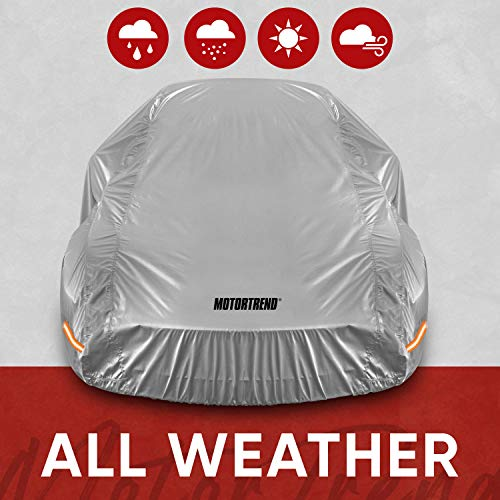 Motor Trend SafeKeeper All Weather Car Cover - Advanced Protection Formula - Waterproof 6-Layer for Outdoor Use
