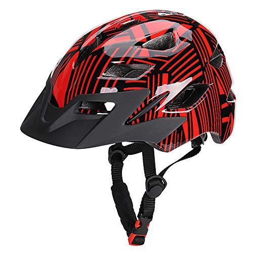 Lixada Kids Bike Helmets with Shock Absorbing EPS Foam,16 Vents,Adjustable Dial System,Lightweight Bicycle Cycling Skating Sport Helmet with Safety Light for Boys Girls(19.7-22.4in)