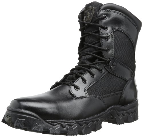 Rocky mens Alpha Force 8' Inch Side Zip-m industrial and construction boots, Black, 4.5 Wide US