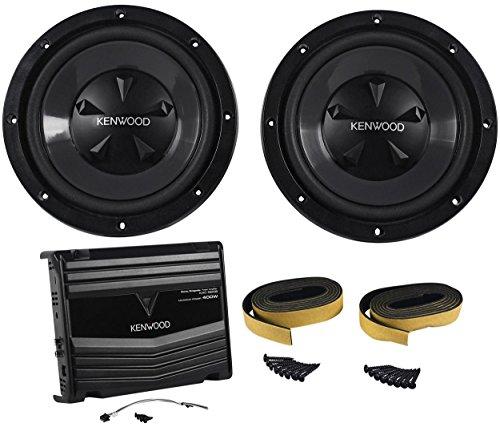 Kenwood P-W1220 Package of: Kenwood KAC-5206 400 Watts Peak/120 Watt RMS 2-Channel Car Amplifier + (2) KFC-W112S 12' 800 Watts Peak/200 Watts RMS 8-Ohm Car Subwoofers