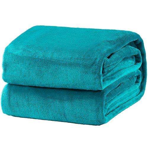 Bedsure Fleece Blanket King Size Teal Lightweight Super Soft Cozy Luxury Bed Blanket Microfiber