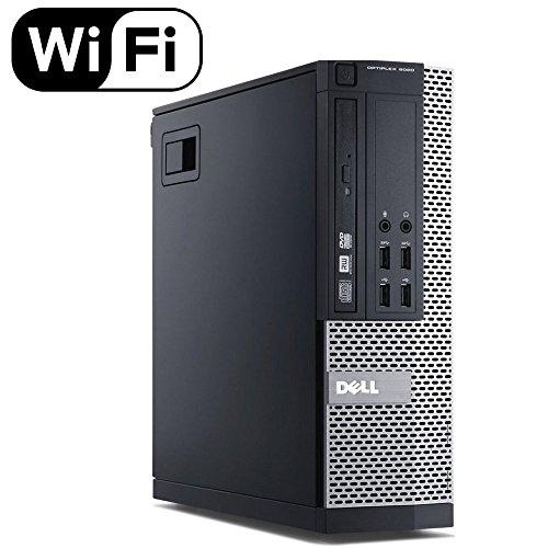 Dell Optiplex 9020 Small Form Business Desktop Tower PC (Intel Quad Core i7 4770, 16GB Ram, 240GB Brand New SSD, WIFI, Dual Monitor Support HDMI plus VGA, DVD-RW, WIFI) Win 10 Pro (Renewed)