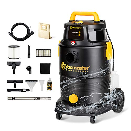 Vacmaster Wet Dry Shampoo Vacuum Cleaner 3 in 1 Portable Carpet Cleaner 8 Gallon 5.5 Peak HP Power Suction