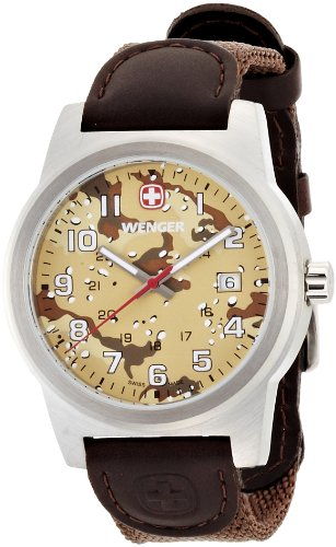 Wenger Field Classic Brown Dial Nylon Strap Men's Watch 01.0441.107