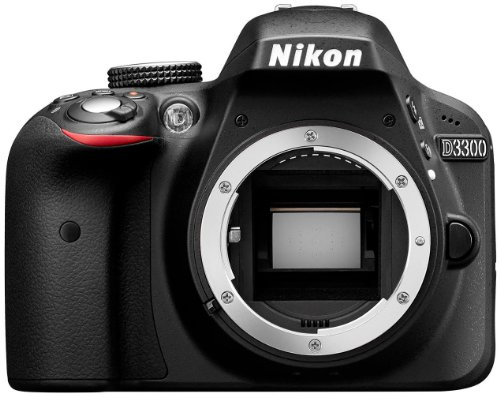 Nikon D3300 Digital SLR Camera Body Only - Black (24.2MP) 3.0 inch LCD