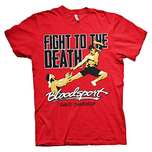 Bloodsport Officially Licensed Fight to The Death Mens T-Shirt (Red), Large