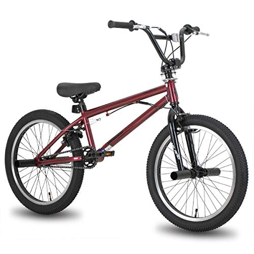 Hiland 20 Inch Kids Bike BMX Bicycles Freestyle for Boys Teenagers Red