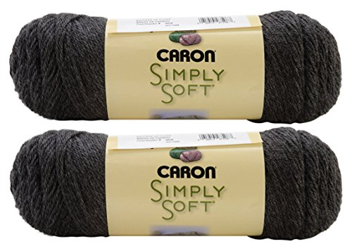 Bulk Buy: Caron Simply Soft Yarn Solids (2-Pack) (Charcoal Heather)