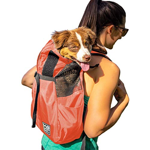 K9 Sport Sack Trainer | Dog Carrier Dog Backpack for Small and Medium Pets | Front Facing Adjustable Dog Backpack Carrier | Veterinarian Approved (X-Small, Koral)