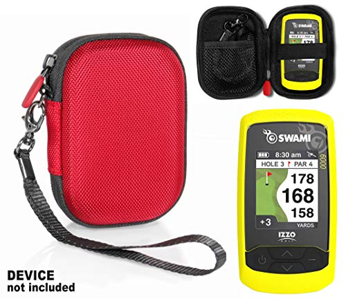 Golf GPS Case by CaseSack, Specially Designed for Izzo Swami 6000 Golf GPS, and Swami 4000, 4000+, 5000 Golf GPS Rangefinder; Garmin Approach G30, G6, G7 (Red)