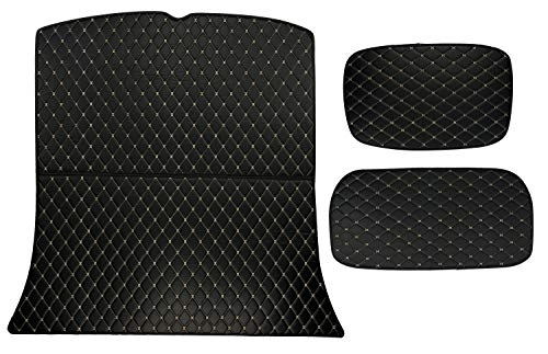 Custom Fit [Made in USA] All Weather Heavy Duty 3 Pieces Trunk/Front Trunk/Under Compartment Cargo Liner for 2020 Tesla Model Y 5 seat Layout - Black 2D Flat