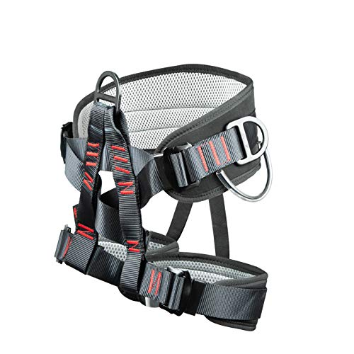 Sushiyi Adjustable Thickness Climbing Harness Half Body Harnesses for Fire Rescuing Caving Rock Climbing Rappelling Tree Protect Waist Safety Belts (Black)