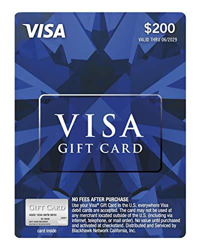 $200 Visa Gift Card (plus $6.95 Purchase Fee)