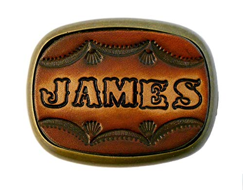 Custom Tooled Leather Belt Buckle, MADE to ORDER, Names or Initials Up to 6 Letters