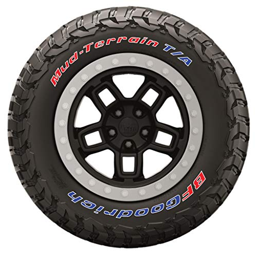 Tire Stickers - Official BFGoodrich Tire Letters for KM3 Tires - Add-On Tire Accessory - Signature Color Edition - (1 Tire)