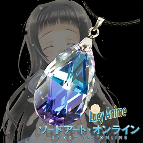 Rosy Women Sword Art Online Sao Yui Heart Asuna \ Kirito Unisex Crystal Alloy Necklace Collection