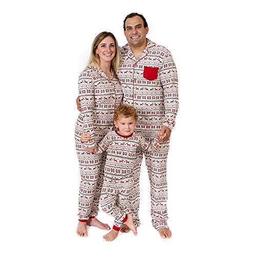 Burt's Bees Baby, Family Jammies, Matching Holiday Pajamas, Organic Cotton PJs, Dashing Deer Fair Isle, Baby Sleeper, 6-9 Months