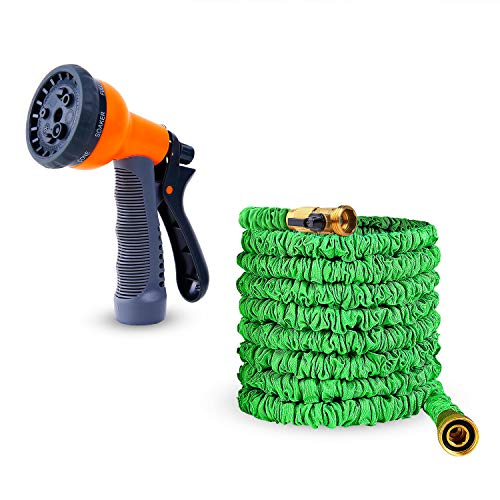 Ohuhu 50 FT Expandable Garden Hose Water Hose with High Pressure Spray Nozzle