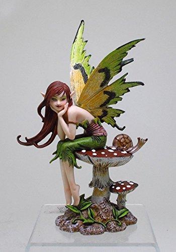 PTC 6.25 Inch Thinking of You Fairy Sitting on Mushroom Statue Figurine