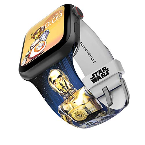 Star Wars – Droids Smartwatch Band – Officially Licensed, Compatible with Apple Watch (not Included) – Fits 42mm and 44mm