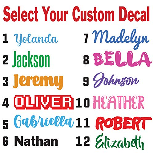 Custom Word Font Name Decal Sticker Compatible with Yeti RTIC Tumbler Cup, Laptop, Phones, RV, Boats, and Vehicles (Glitter Colors Available)