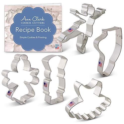 Ann Clark Cookie Cutters 5-Piece Nutcracker Ballet Cookie Cutter Set with Recipe Booklet, Nutcracker, Sugar Plum Fairy, Tutu, Ballerina and Ballet Slipper