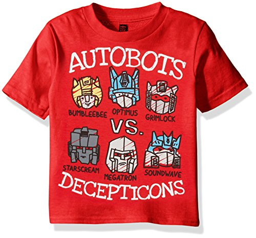 Transformers Toddler Boys' Graphic Short Sleeve T-Shirt, Red, 2T