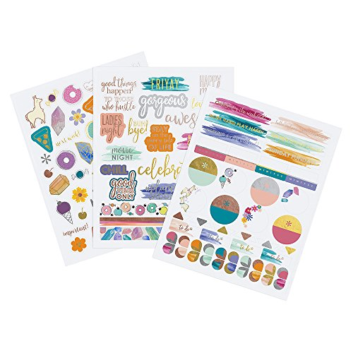Erin Condren Designer Sticker Pack - Motivation & Celebration Sticker Pack Trio Includes 3 Sticker Sheets, 100+ Stickers