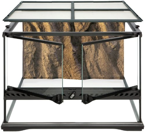 Exo Terra Short All Glass Terrarium, 18 by 18 by 12-Inch