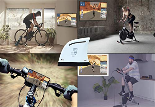 Jacfit JB101 Designs for Your Exercise Bike, Stationary Bikes, Spin Bike, Bike Trainer Stand and Bike which Offers a Free Online Gaming & Tournament with Your Friends and Global Players.