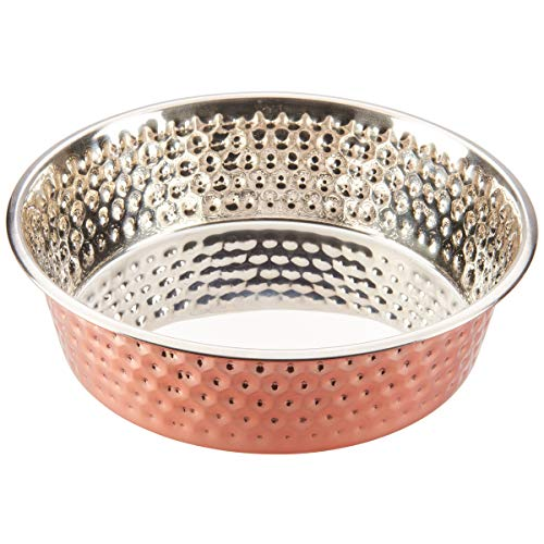 SPOT Honeycomb Hammered Copper Dog Dish 3Qt, 58565