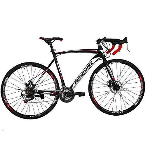 OBK XC550 Road Bike 700C Wheels 21 Speed Disc Brake Mens or Womens Bicycle Cycling (Aluminium Rims 1, 54cm)