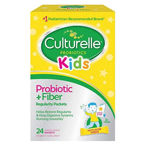 Culturelle Kids Regularity Probiotic & Fiber | Helps Restore Regularity & Keeps Kids' Digestive Systems Running Smoothly* | 24 Single Packets
