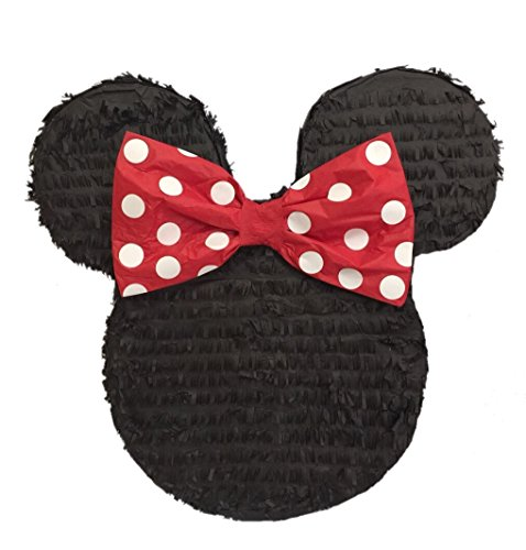 APINATA4U Mouse Ears with Red Bow Pinata 19' Tall