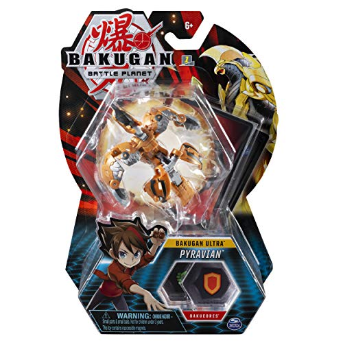Bakugan Ultra, Pyravian, 3-inch Collectible Action Figure and Trading Card, for Ages 6 and Up