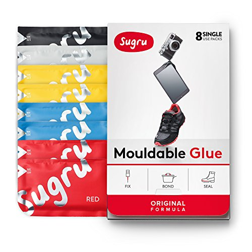Sugru Moldable Glue - Original Formula - All-Purpose Adhesive, Advanced Silicone Technology - Holds up to 4.4 lb - Classic Colors 8-Pack