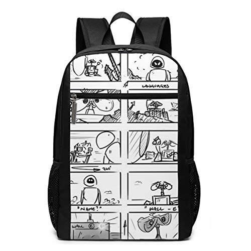 Wall-E Storyboard Backpack Unisex School Daily Backpack Lightweight Casual Travel Outdoor Camping Daypack