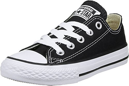 Converse unisex-baby Chuck Taylor All Star Low Top Sneaker, black, 2 M US Infant