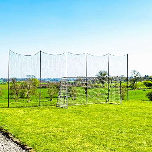 Socketed Stop That Ball - Multi-Sport Ball Stop Netting System for The Backyard, School or Sports Clubs (10ft)